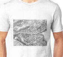 Vintage Map of Zurich Switzerland (1850) Unisex T-Shirt