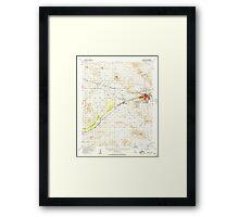 USGS TOPO Map California CA Barstow 296771 1956 62500 geo Framed Print
