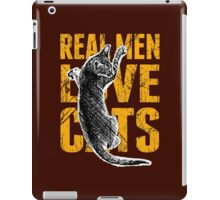 Real Men Love Cats iPad Case/Skin