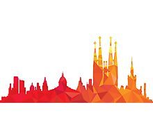 Barcelona skyline  Photographic Print
