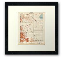 USGS TOPO Map California CA Brentwood 295948 1914 31680 geo Framed Print