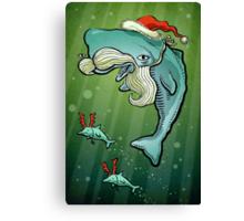 Christmas Whale Canvas Print