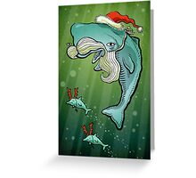 Christmas Whale Greeting Card