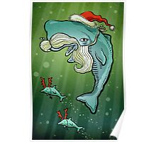 Christmas Whale Poster