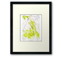 USGS TOPO Map California CA Dorris 297321 1950 62500 geo Framed Print