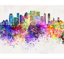 Calgary V2 skyline in watercolor background Photographic Print