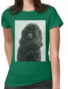 Black Medium or Moyen poodle  Womens Fitted T-Shirt