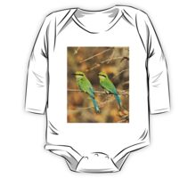 Bee-eater Greens - Mother and Chick of Spring One Piece - Long Sleeve