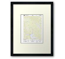 USGS TOPO Map California CA Bucks Lake 20120405 TM geo Framed Print