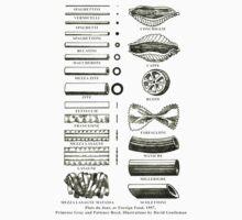 Retro cookbook pasta illustration Kids Clothes