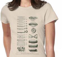 Retro cookbook pasta illustration Womens Fitted T-Shirt