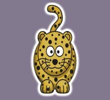 Leopard, Cartoon, Cute, Spotty, Big Cat, Yellow Kids Tee