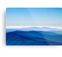Colour and Landscapes - Into the Blue Metal Print