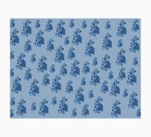 Blue flowers, ornament, asymetric floral design One Piece - Short Sleeve