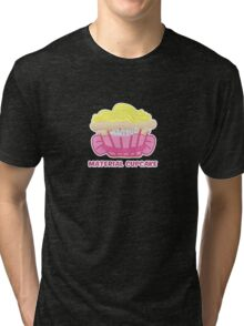 MATERIAL CUPCAKE parody Tri-blend T-Shirt