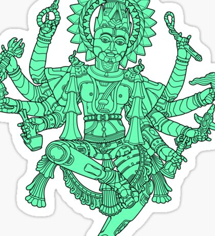 Robotic Shiva Sticker