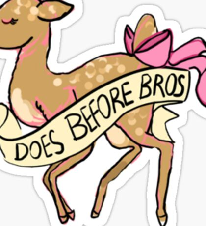 does before bros Sticker