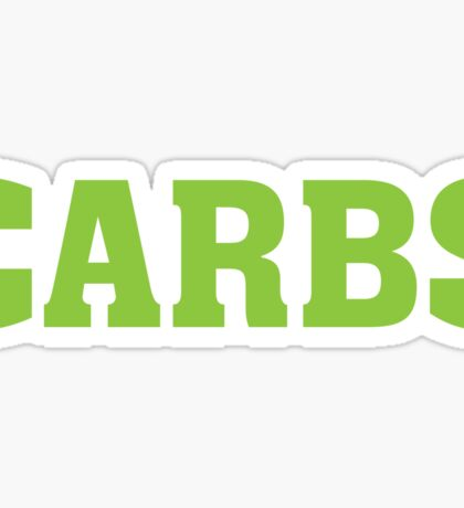 CARBS - Funny Food  Sticker