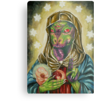 Blessed Reptilian Virgin and Child Metal Print