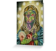 Blessed Reptilian Virgin and Child Greeting Card