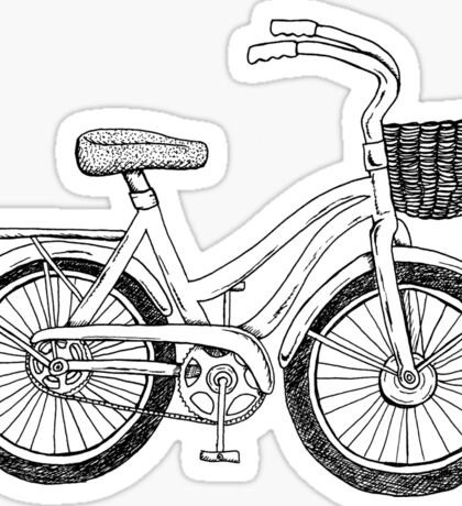 Beach Cruiser Art Sticker