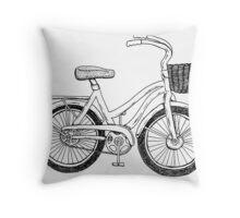 Beach Cruiser Art Throw Pillow