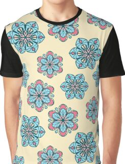 Retro floral pattern with stylized flowers Graphic T-Shirt
