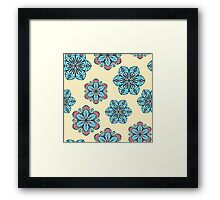 Retro floral pattern with stylized flowers Framed Print