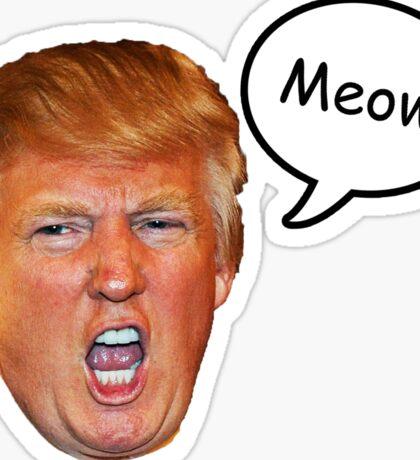 Trump Meow Sticker