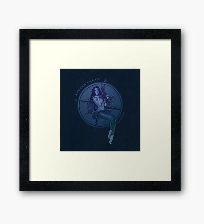 Diving Belle  Framed Print