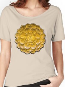 Chinese Gold Lotus Symbol Women's Relaxed Fit T-Shirt