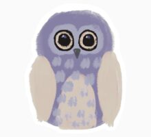 Purple Owl Digital Illustration Kids Tee