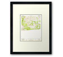 USGS TOPO Map California CA Campo 296994 1959 62500 geo Framed Print