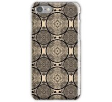 Beige abstract seamless lace pattern texture background iPhone Case/Skin