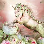 Unicorn And A Rose by Carol  Cavalaris