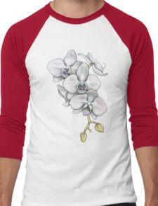 Orchid Flower Men's Baseball ¾ T-Shirt