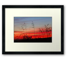 Colour and Landscapes - Into the Red Framed Print