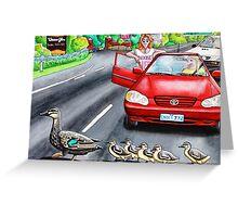Ducks Crossing Greeting Card