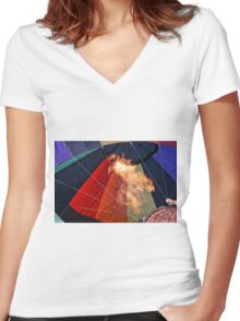 Hot Fury Women's Fitted V-Neck T-Shirt