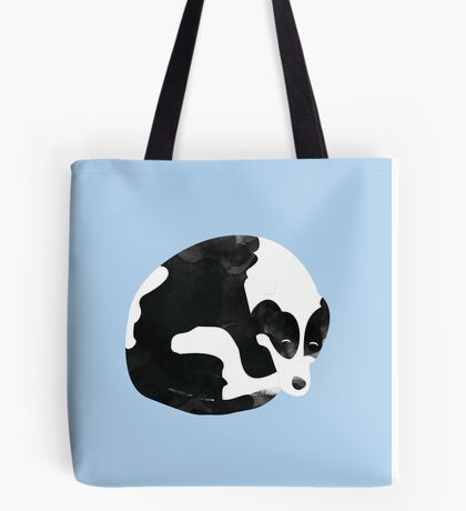Sleeping Border Collie Painting Tote Bag