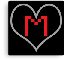 Markiplier Heart with Logo Canvas Print