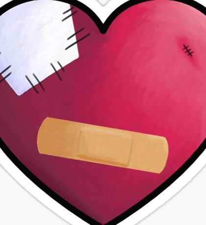 Band Aid Heart  Sticker