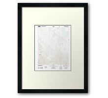 USGS TOPO Map California CA Chimineas Ranch 20120323 TM geo Framed Print