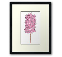Cotton Candy Tree T Shirt Framed Print