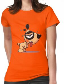 Tired_Dog Womens Fitted T-Shirt