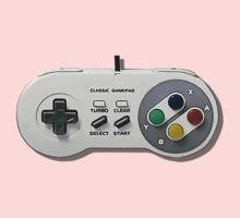 Classic gamepad controller, 80s SNES pad pattern, gray Kids Tee
