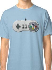 Classic gamepad controller, 80s SNES pad pattern, gray Classic T-Shirt