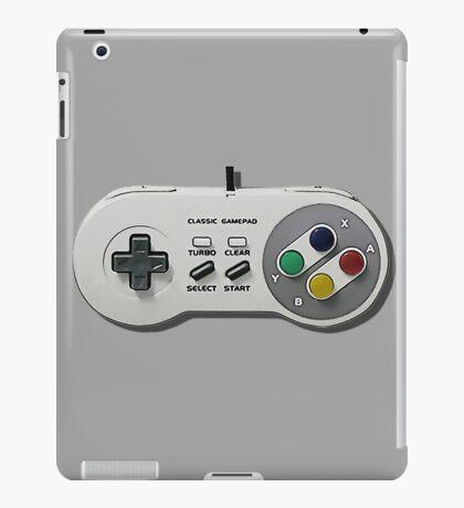 Classic gamepad controller, 80s SNES pad pattern, gray iPad Case/Skin
