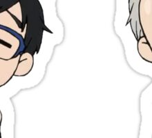 Katsuki Yuuri & Viktor Nikiforov Chibi Sticker