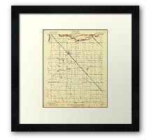 USGS TOPO Map California CA Ceres 295985 1916 31680 geo Framed Print